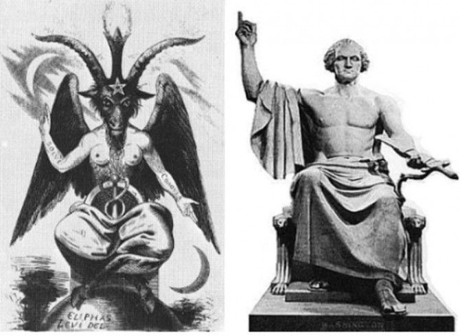 George Washington Baphomet Comparison