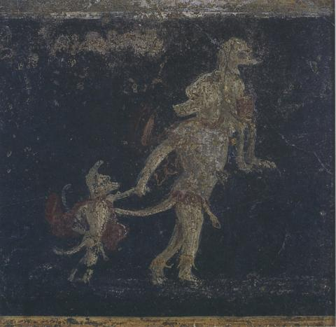Dogman Painting Discovered in Pompeii
