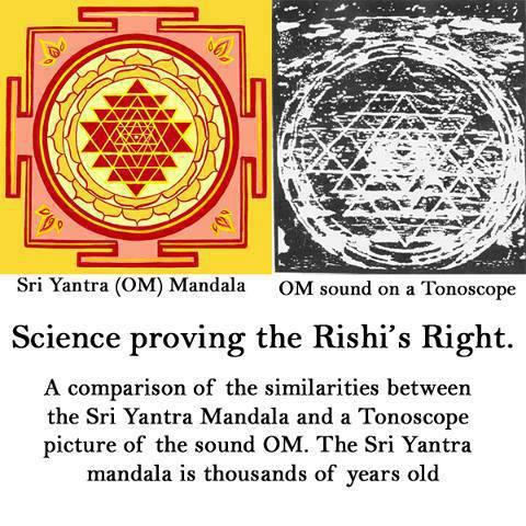 Cymatic Chakra - Sri Yantra OM Compared to Tonoscope Reading - Dr. Hans Jenny