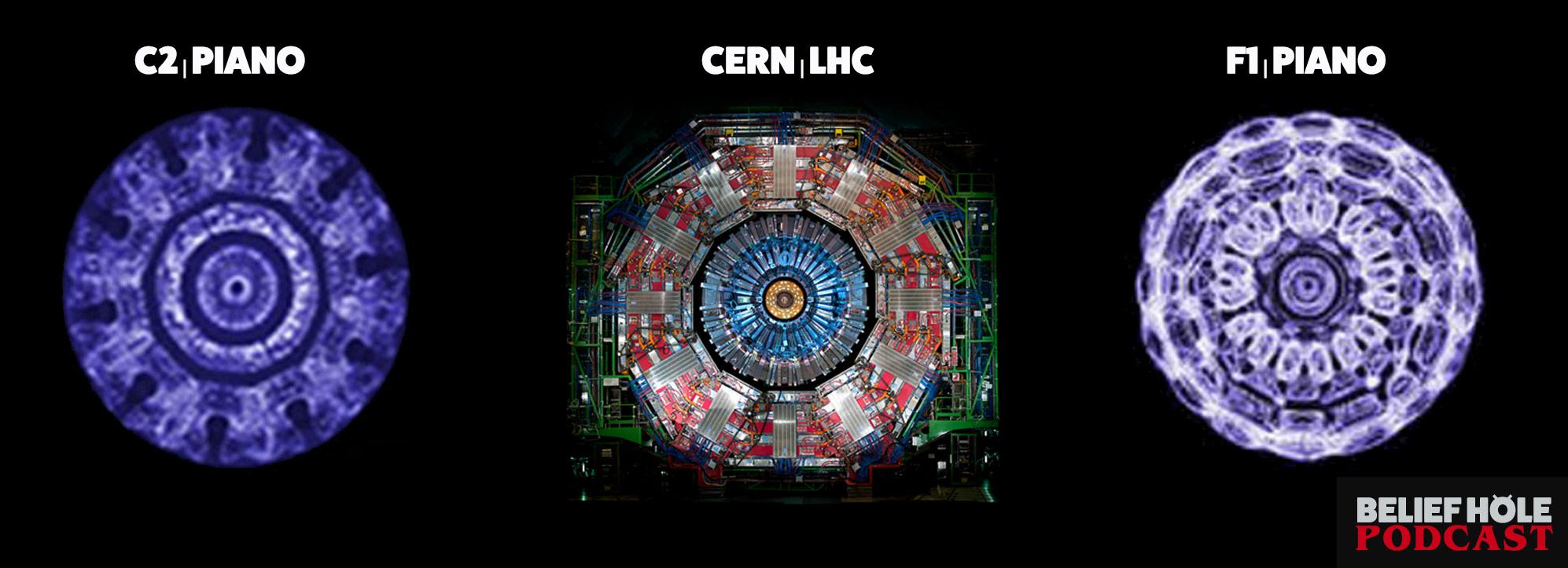 Cymatics - Piano Note - Cern LHC - Comparison