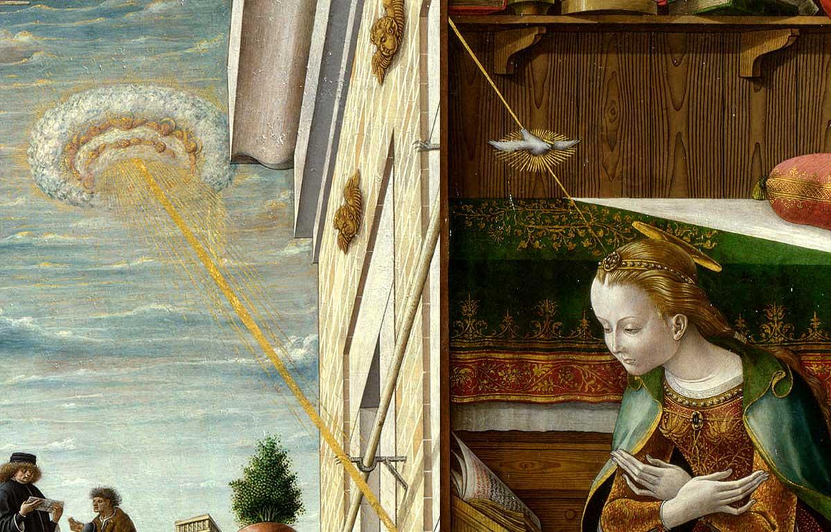 UFOs in Antiquity - Carlo Crivelli - 1486 - The Annunciation with Saint Emidius