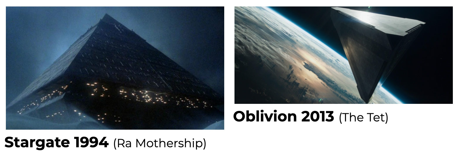 Pyramid UFOs in Movies - Stargate / Oblivion