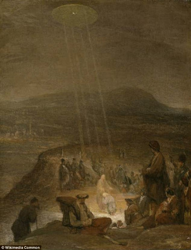 The Baptism of Christ, 1710- UFO in paintings of antiquity